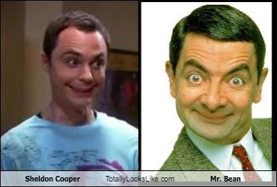 sheldon cooper,mister bean,sheldon and bean