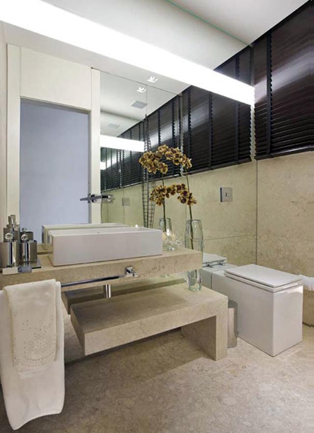 Vasos sanitários quadrados  veja banheiros e lavabos lindos com essa tendênc -> Banheiros Quadrados Decorados