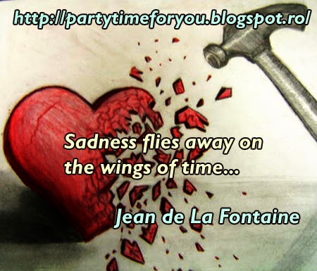 Sadness flies away on the wings of time...
