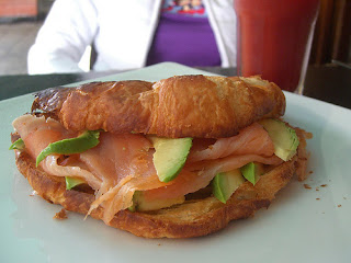 Smoked Salmon and Avocado Croissant