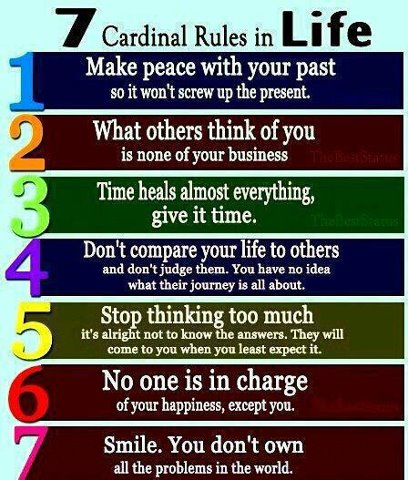 60 Cardinal Rules In Life Quotes And Sayings Simple 7 Rules Of Life Quote