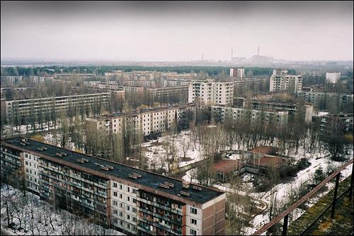 pripyat chernobyl, cidade fantasma atingida por radiação de um acidente nuclear