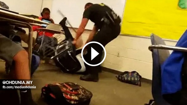 Pelajar perempuan dihentak anggota Polis dalam Kelas