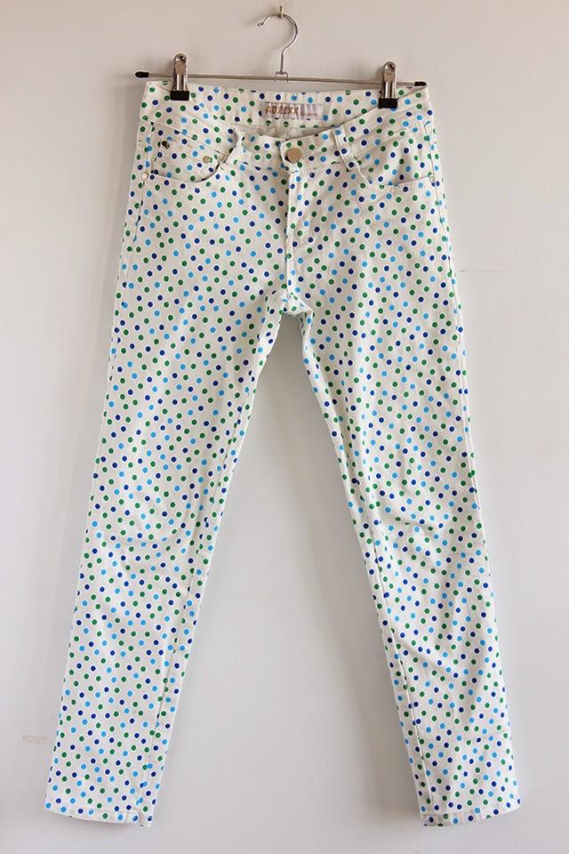 pantalon lunares polka dot jeans