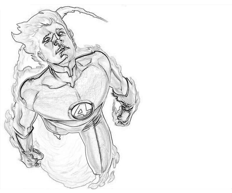 the human torch coloring pages - photo#35