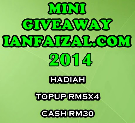 GIVEAWAY MEI 2014 By IanFaizal.com And Dramaterbaik.com