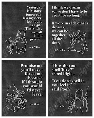 Winnie the Pooh Chalkboard Printable