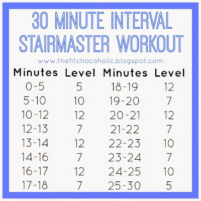 30 Minute Interval StairMaster Workout
