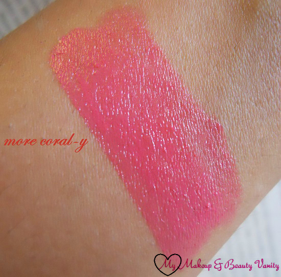 Colorbar Creme Touch Lipstick in Passionate+colorbar lipstick swatch