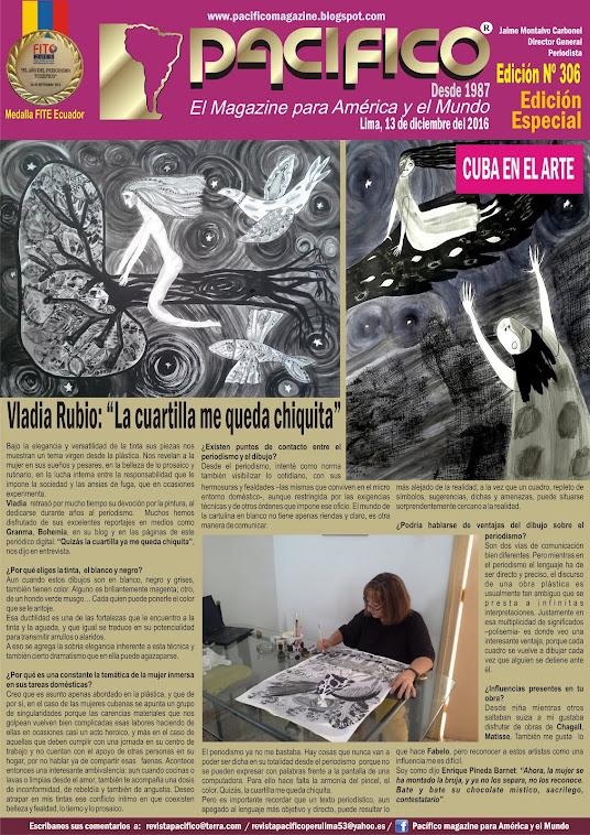Revista Pacífico Nº 306 Edición Especial Cuba en el Arte
