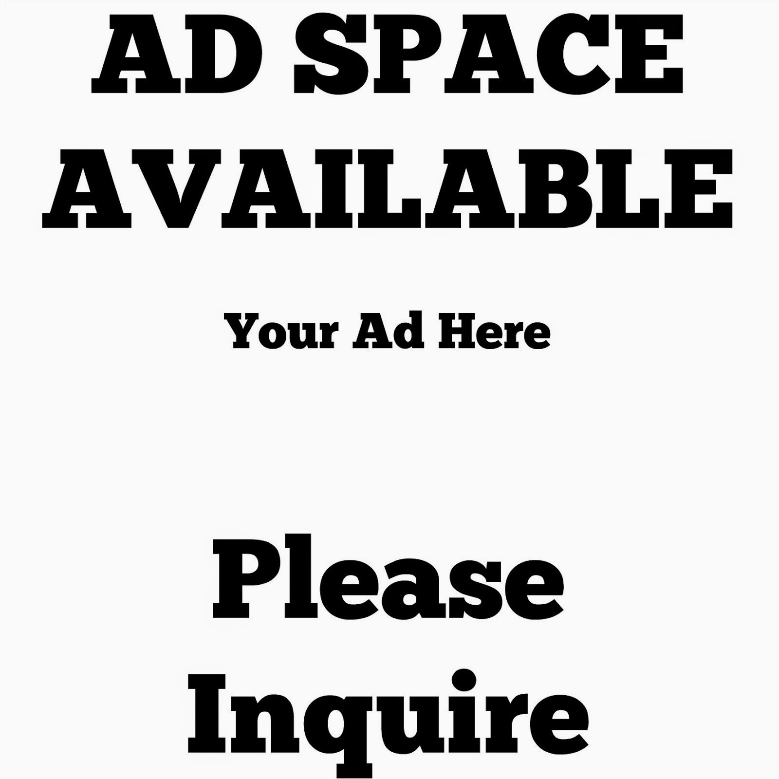 Now Selling Ad Space