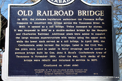 Old Railroad Bridge Historic Marker Sheffield, AL