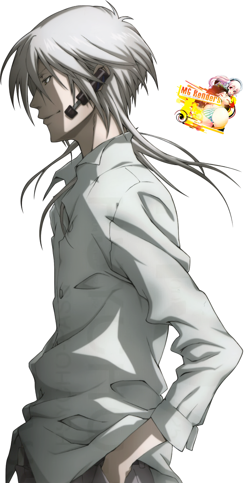 Tags: Anime, Render,  Makishima Shougo,  Psycho-Pass, PNG, Image, Picture
