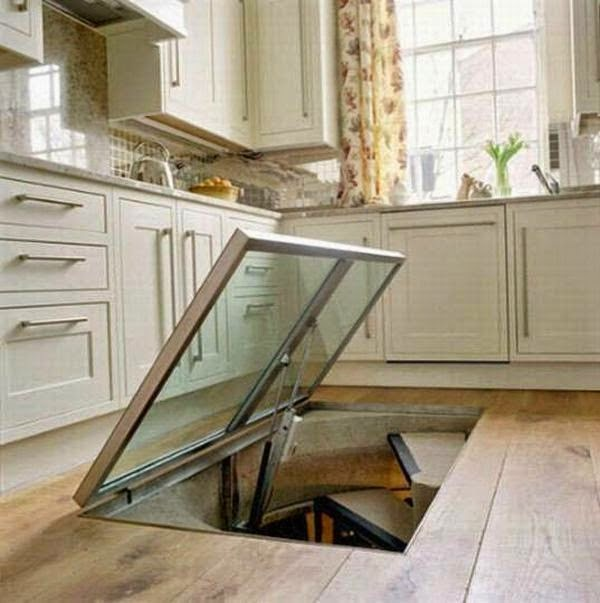 What could possibly be hidden inside... - This Guy Put A Secret Window On His Kitchen Floor, For A Brilliant Reason!