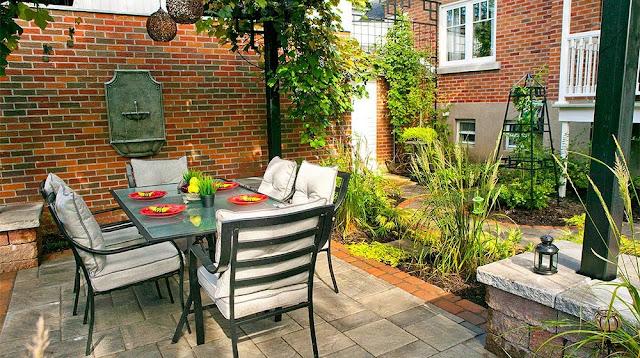 decoracion de comedor en jardín