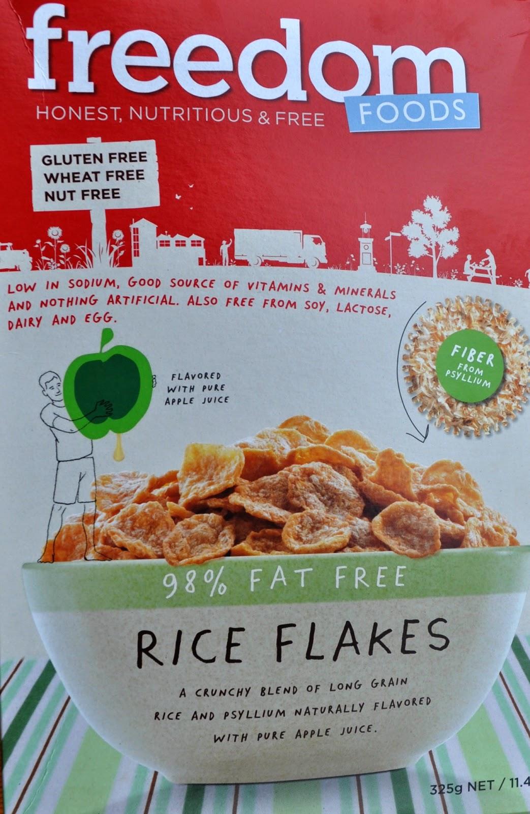 Freedom Foods, allergen-free, gluten-free cereal