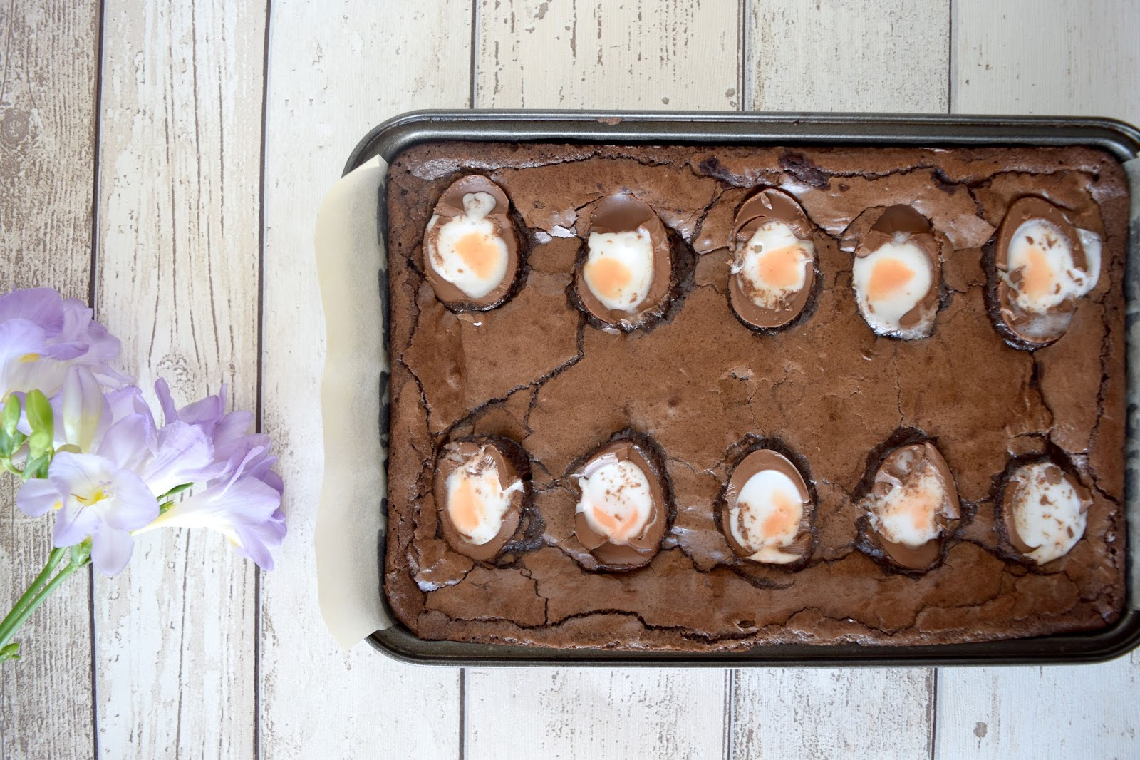 Creme Egg Brownies