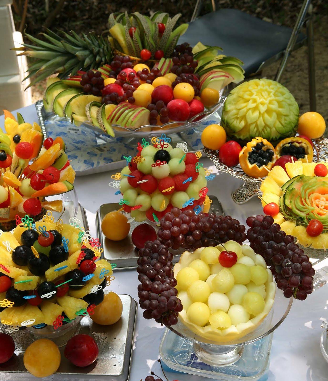Arte Frutas Arte na Mesa -> Decoração De Frutas Para Mesa