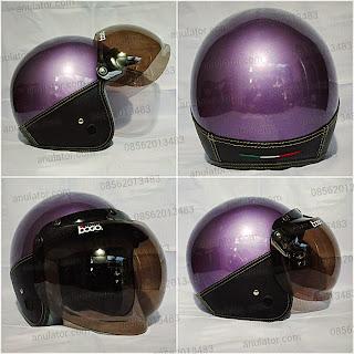 Helm Policia Ungu + Mika Bogo