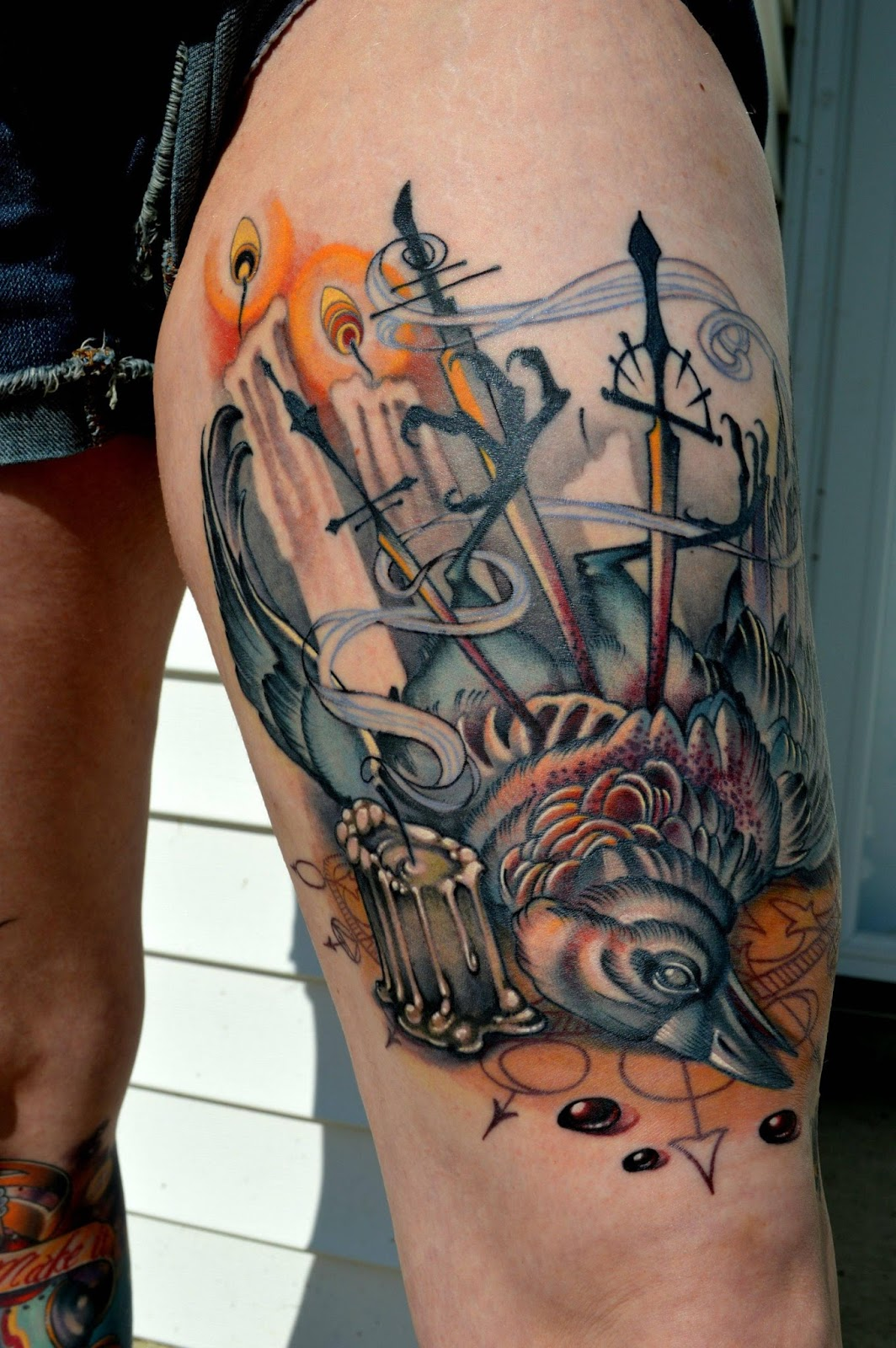 Awesome inks tattoo ideas inspiration and information for Old school day of the dead tattoo
