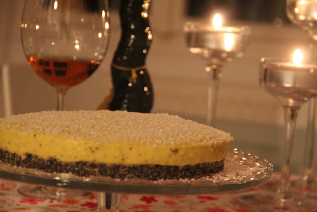 torta, cake, mango, mak, poppy, raw, presno, nuts free