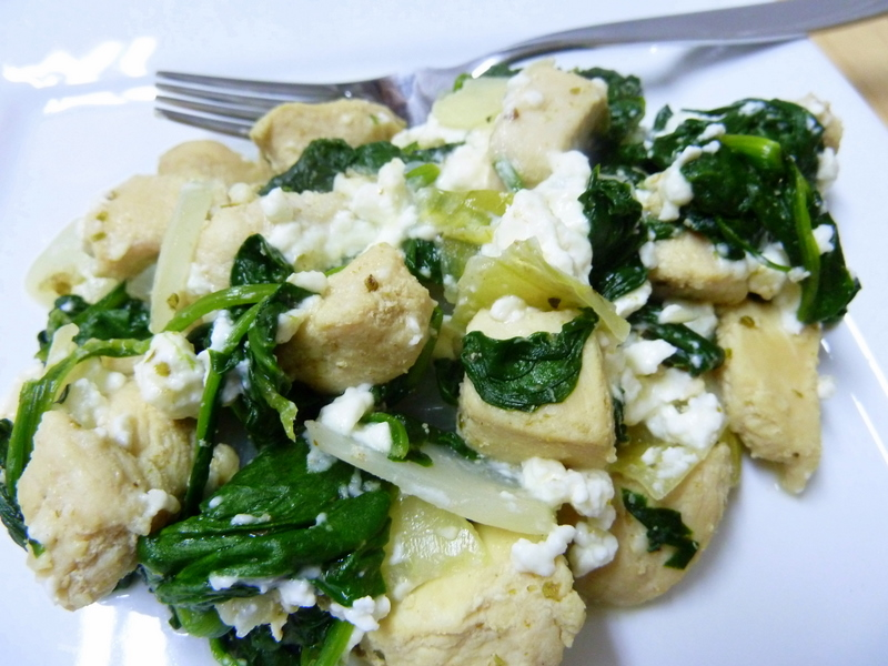 Cookin' Cowgirl: Spinach and Feta Chicken