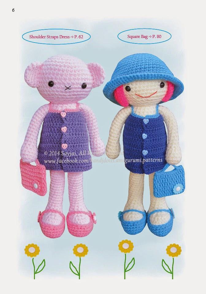 Amigurumi Crochet Patterns K And J Dolls : The Dress Up Dolls Crochet Pattern Book is out :) - Sayjai ...