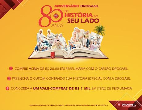 Participar promoção de aniversário Drogasil 2015