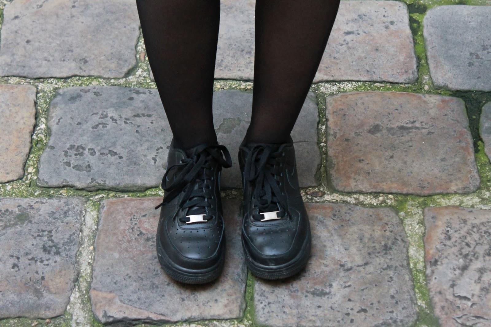 air force noir porté