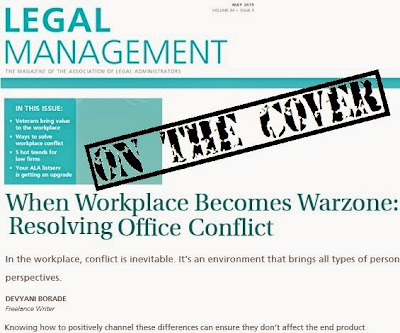Verbolatry - Devyani Borade - When workplace becomes warzone - Legal Management