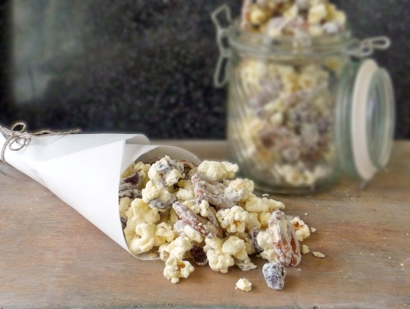 Sweet and Salty Snack Mix | by Life Tastes Good #snackmix #whitechocolate