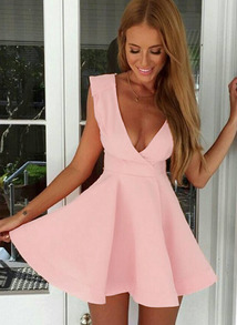 http://www.shein.com/Pink-Deep-V-Neck-Sleeveless-Flare-Dress-p-208316-cat-1727.html?aff_id=461