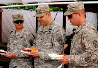 Soldiers at BBQ