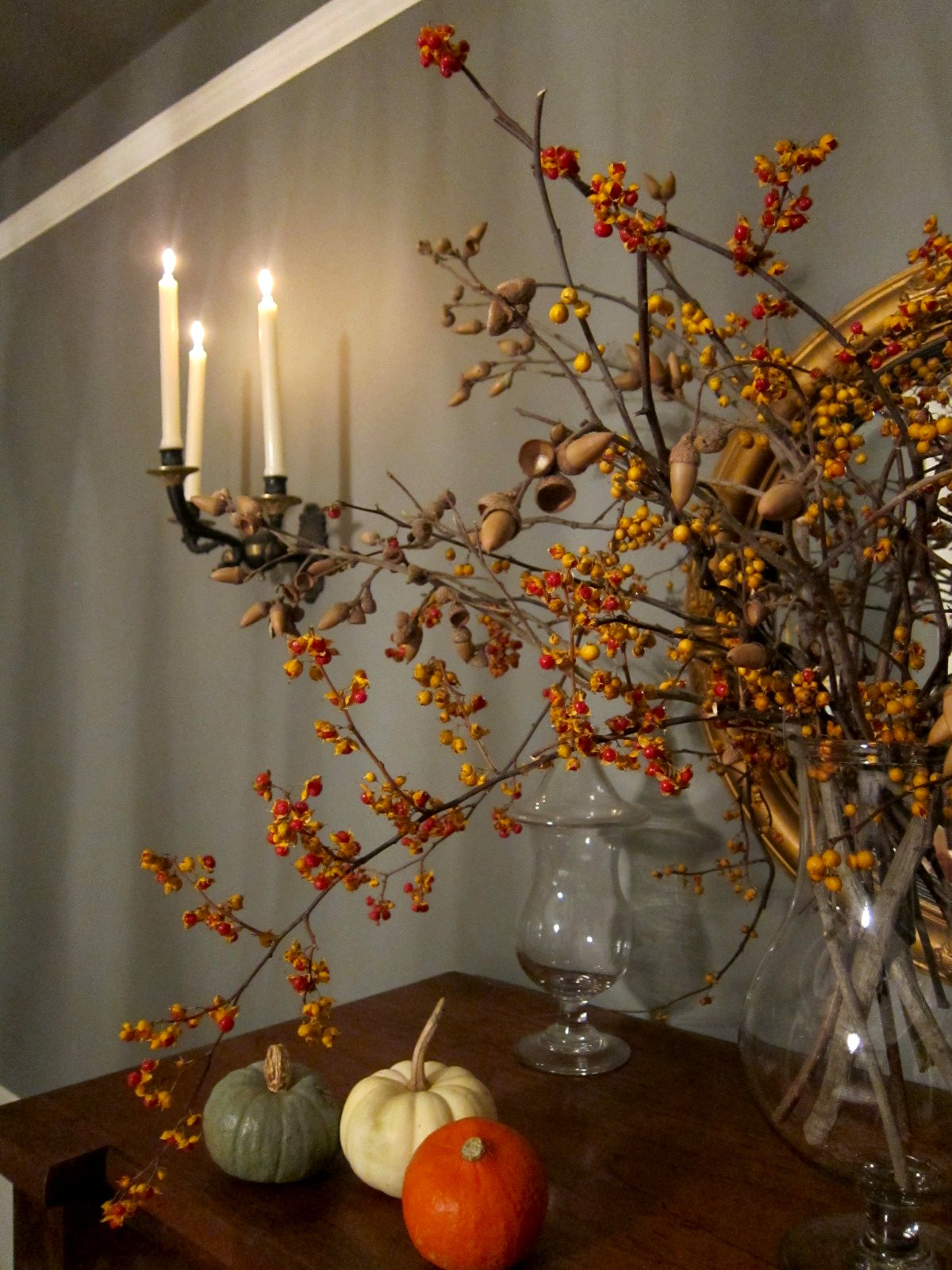 Wish i could find or buy bittersweet branches in our area don t - Bittersweet Berries And Acorns Mingle In The Dining Room