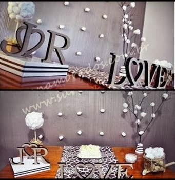 bodas de algodão decoração com significado para passar uma mensagem