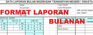 gambar format laporan bulanan