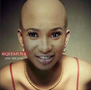 Tonto Dikeh bald