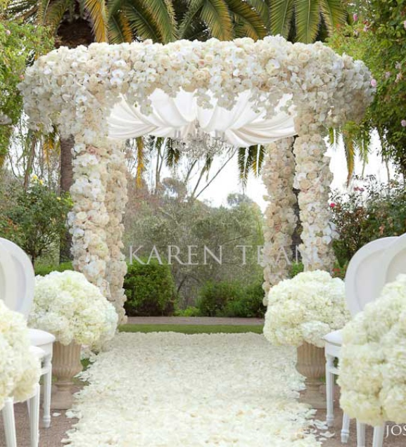 Wedding inspiration an outdoor ceremony aisle wedding bells for Backyard wedding decoration ideas