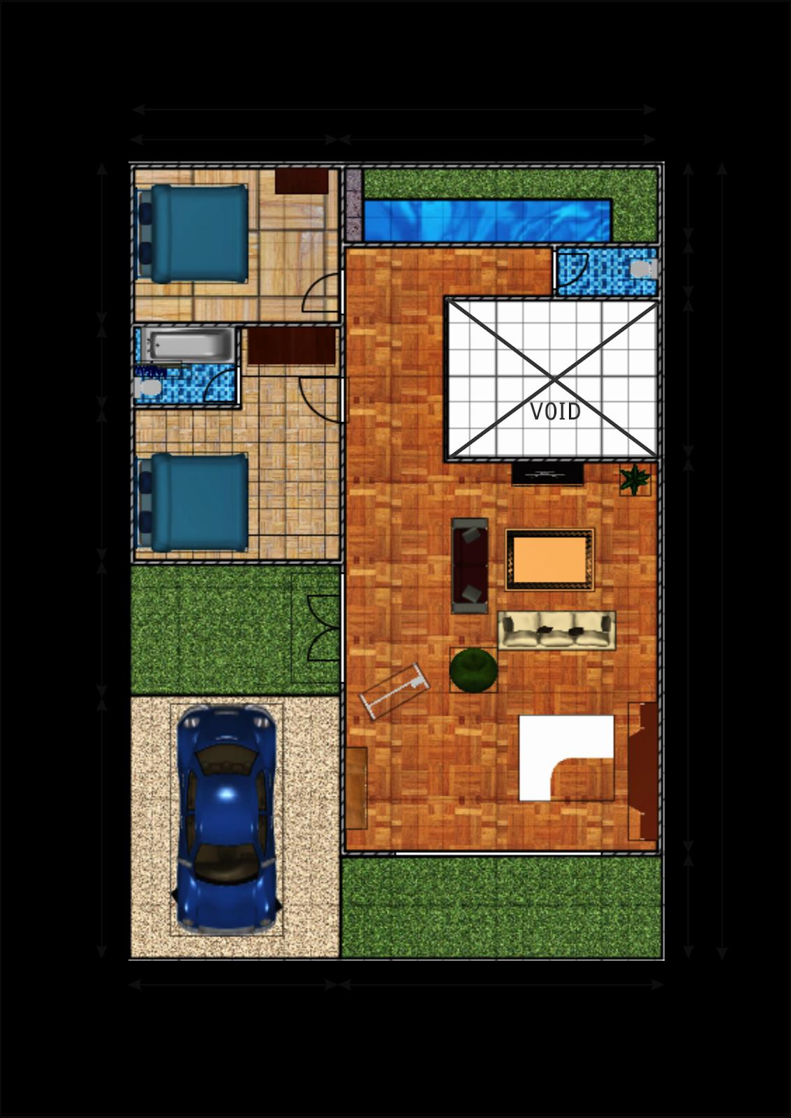 Download image Gambar 1 Denah Rumah 2 Lantai Di Lahan 150m2 PC ...