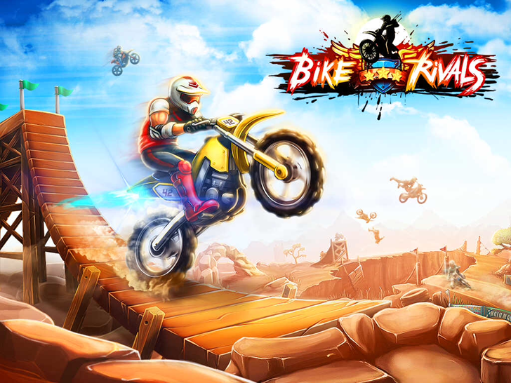 Bike Rivals Free App Game By Miniclip.com