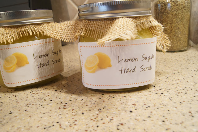 DIY Lemon Sugar Hand Scrub