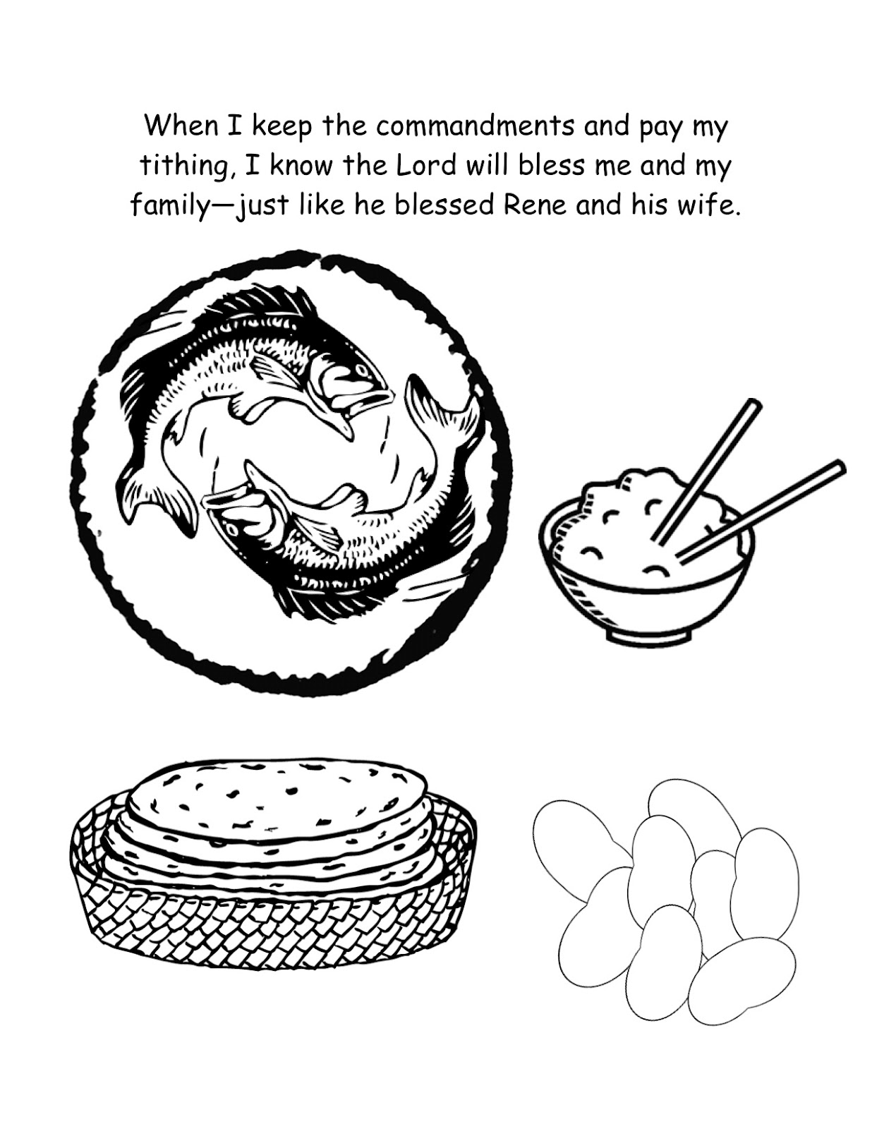 tithing coloring page - everyday loves primary sharing time