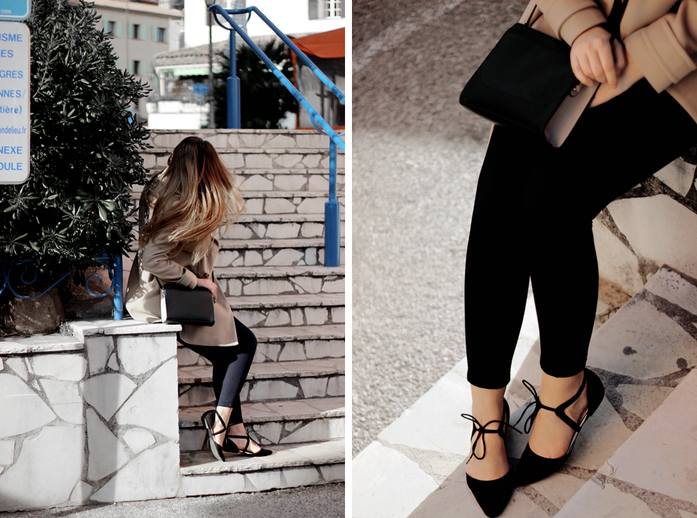 Oasis lace up pointed pumps aimerose fashion blog