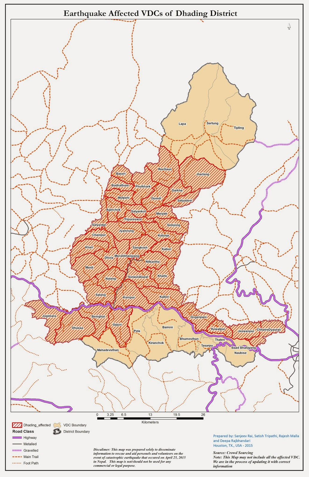 Area Affected by Nepal Earthquake Earthquake Affected Area Maps