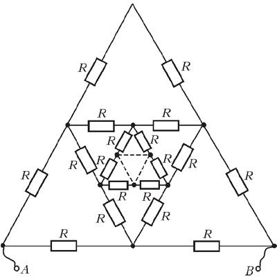 Бесконечная цепь резисторов