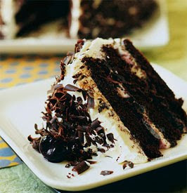 Black Forest Cheesecake with almond liqueur flavoring