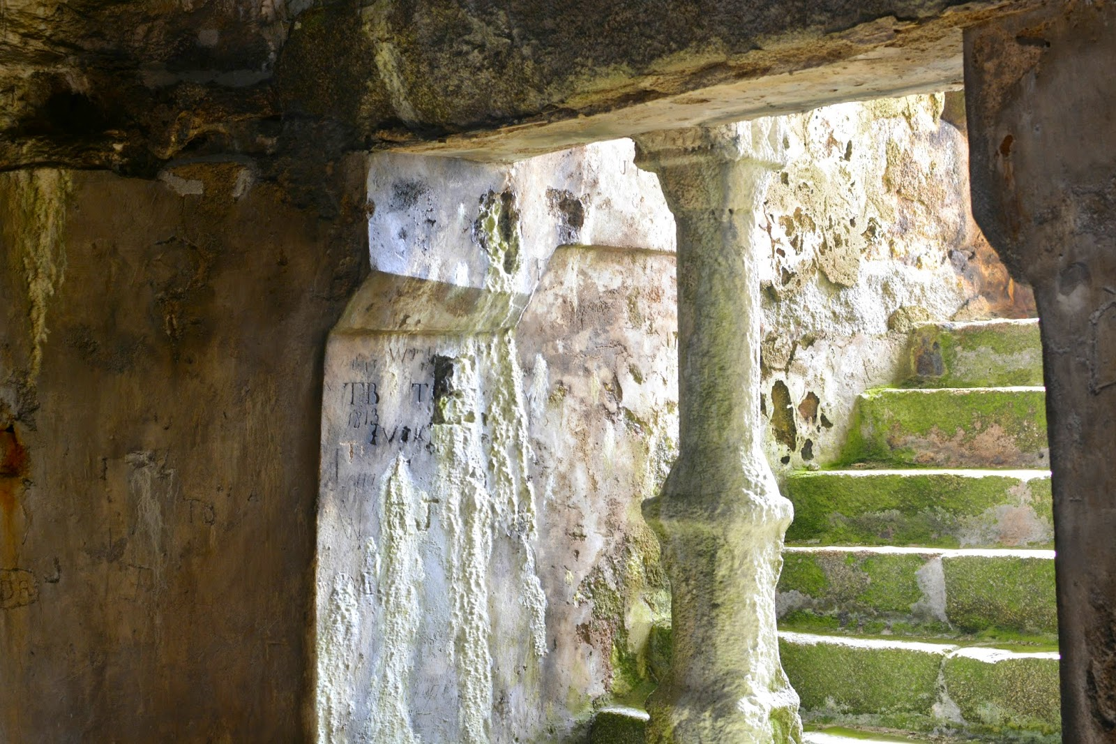 Inside of Cromwell Castle Tresco Isles of Scilly