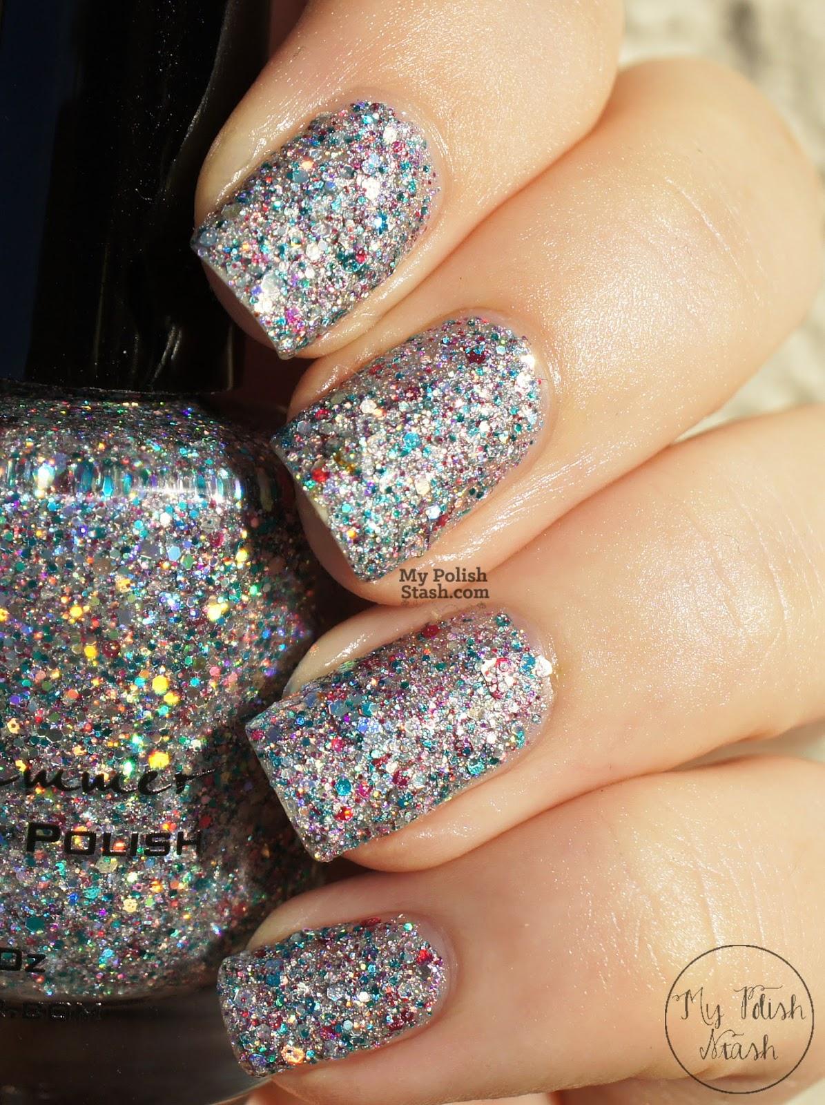 glitter textured nail polish