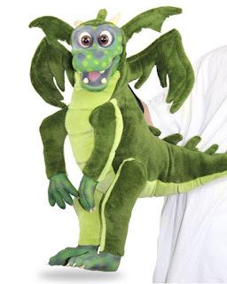 Latex dragon baby puppet