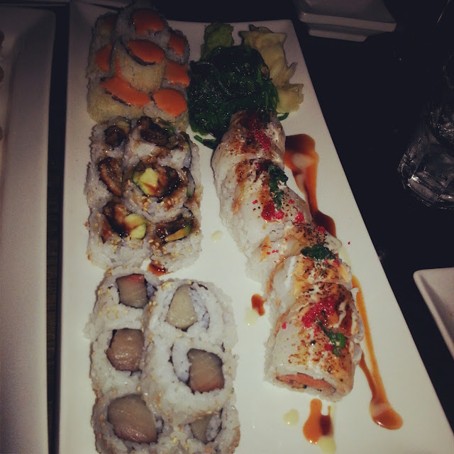 innovative specialty rolls at RAW Sushi and Sake Lounge